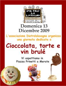 Locandina Cioccolata, torte e vin brule' - domenica 13 dicembre 2009