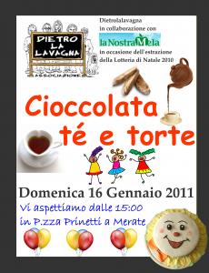 Locandina evento vendita torte 16/01/2011