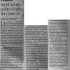 Articolo de La Repubblica di sabato 27 agosto 2016