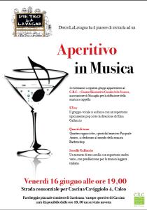 Volantino Aperitivo in Musica - 16/06/2017 ore 19