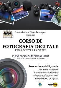 Volantino corso di fotografia digitale - febbraio 2018