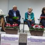 A sinistra Enrico Massimo Manzi Presidente sezione penale Tribunale di Lecco - a destra Amalia Bonfanti Presidente L'Altra Metà del Cielo Telefono Donna di Merate