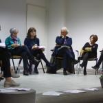 Da sinistra: Amalia Bonfanti, Alessandra Colombo, Fabio Roia Magistrato Tribunale di Milano e Emi Galli Coordinatrice Tutela Minori Ambito di Merate