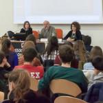 28/02/2019 - Incontro dedicato ai ragazzi - I relatori: da sinistra la dott.ssa Roberta Invernizzi - il dott. Antonio Piotti e il presidente di DietroLaLavagna Patrizia Riva