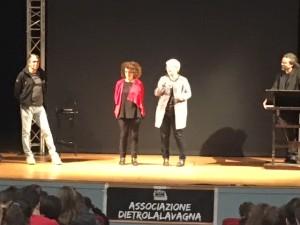 Da sinistra Enrico Comi, Patrizia Riva, l'assessore Maria Silvia Sesana e l'attore Fabrizio De Giovanni