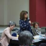 Da sinistra: Laura Campanello, l'avvocato Alessandra Colombo e Francesca Seghezzi.